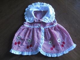 Fisher-Price Girl's Sz 6/9 Mos Months Sleeveless Seersucker Gingham Picn... - $20.80