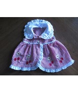 Fisher-Price Girl's Sz 6/9 Mos Months Sleeveless Seersucker Gingham Picn... - $20.80