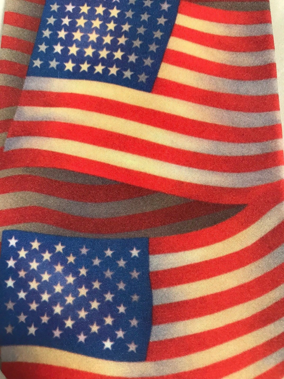 Ralph Marlin History of American Flags Patriotic 4th of July Neck Tie 1998 USA image 2