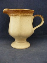 Mikasa Whole Wheat Cream & Brown Pedistol Cream Pitcher  - $9.95