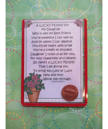 """Daughter"" Shiny Lucky Penny Magnetic or Tuck-i... - $4.00"