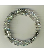 Bracelet Rosary - Clear Tear Drop Beads - $9.95