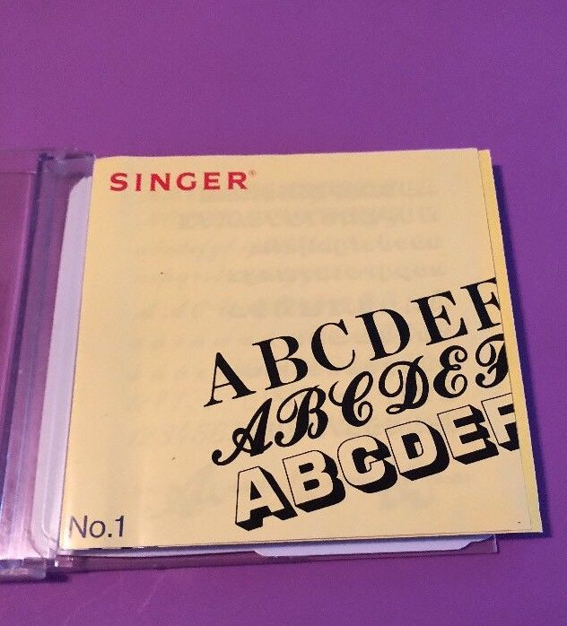 Singer NO.1 Embroidery Card Alphabets And Numbers Designs
