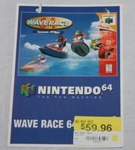 Wave Race 64 Vidpro Card Promo Store Display Nintendo N64 N 64 Vintage 1... - $49.49