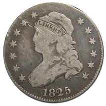 1825 Capped Bust Quarter Dollar 25¢ Coin Lot# MZ 3094