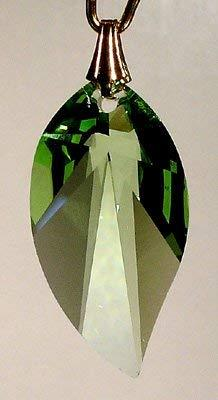 Swarovski 28mm Light Peridot Crystal New Leaf Prism