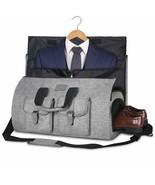 Bag Garment Bag Dress Costume Compartment for Shoes Strap Of Shoulder Grey - $277.32