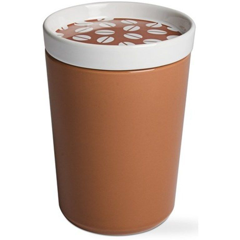 Tag Ceramic Coffee Bean Canister Container Storage Jar With Air Lid New