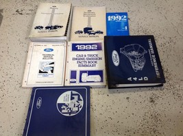 1992 FORD MUSTANG Service Shop Repair Workshop Manual Set W Trans Book +... - $197.95