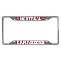 Fanmats NHL Montreal Canadiens Chrome Metal License Plate Frame 2-4 Day Delivery - $14.84