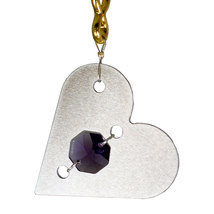 Aluminum and Crystal Heart Keyring image 4