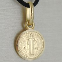 Pendant Yellow Gold Medal 750 18k, Protection, ST. BENEDICT, CROSS, SOLID image 8