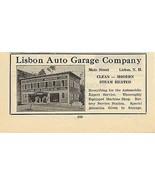 Lisbon Auto Repair Garage Lisbon NH 1922 Ad Automobile Battery Service - $15.99