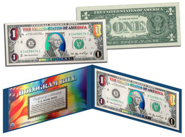 DELUXE MULTI-COLOR HOLOGRAM Legal Tender U.S. $1 Bill Currency *Limited ... - $9.85