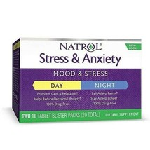 Natrol Stress & Anxiety - Day And Night - 10 Tablets Each - 20 Total - $14.99