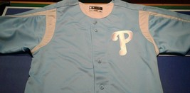 Philadelphia Phillies True Fan MLB Genuine Men's M Powder Blue Jersey - $39.59