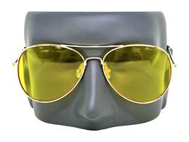 Aviator Tactical Shooting Glasses Yellow Lens Military Night Driving Sun... - $13.53