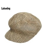 Caps NEW Fashion Custom Made Newsboy Hardness Straw Sun Visor Hats For W... - $22.78