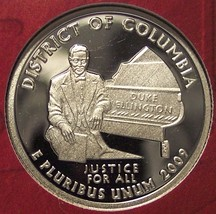 2009-S Deep Cameo Silver Proof District of Columbia Quarter #01019 - $7.99
