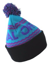 Official Crown of Laurel Turquoise Purple Alpini Togano Pom Beanie Winter Hat NW image 2