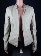 Express Femmes Veste Blazer Polyuréthane Beige Manches Longues Taille M/M - $20.08