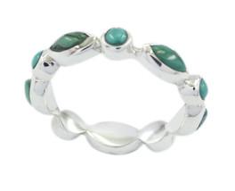 common 925 Sterling Silver pulchritudinous Natural Multi Ring gift UK - $24.66