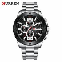 Curren 8336 Military Chronograph Clock Male Fashion Sporty Watch Waterproof Watc - $129.56