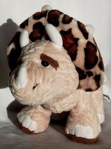 "Webkinz Plush Triceratops Dinosaur Brown Leopard Spotted Stuffed Ganz 13"" 2010 - $10.87"