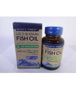 Wiley's Finest Wild Alsakan Fish Oil 450 mg size 60 Fish Softgels 23-W - $16.83