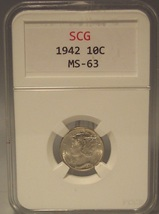 1942 Mercury Head Dime SGC MS-63 #G48 - $12.99