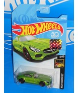 Hot Wheels 2018 Factory Set Nightburnerz #264 '15 Mercedes-AMG GT Green - $4.00