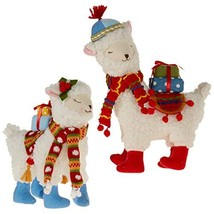 Christmas Holiday Stuffed Llama Plush, Set of 2 - $60.93