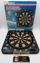 """Unicorn Electronic Dartboard with Darts 18""""x 18"""" TESTED (missing battery cover) - $37.95"""