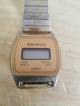 Vintage Advance Quartz Watch With Stretchy Band.Untested.Sold As Is. - $11.29