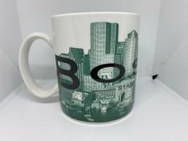 STARBUCKS 2002 Skyline Series Mug Boston Series One Green & White BEANTO... - $19.79