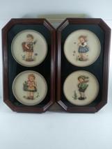 """M J Hummel (1-4)Editions """"Plate set """" in wood frames hummel #'s(735;736;... - $89.97"""