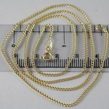 18K YELLOW GOLD CHAIN MINI GOURMETTE LINK 1 MM, 19.70 INCHES MADE IN ITALY - $189.00