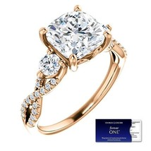2.75 Carat Moissanite Cushion (ForeverOne) in 14K Gold (Charles & Colvard) - $1,599.00