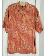Tommy Bahama 100% Silk Mens Shirt Button Down Dusty Peachy Pink Tropical... - $25.00