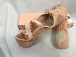 Bloch S0282L Zenith Canvas Split-Sole Pink Ballet Shoes Size 2 C, New - $14.24
