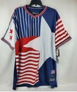 Brooklyn Xpress Ricky Singh Men Red White Blue Luxury Vented Jersey Size... - $39.95