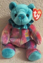 Ty Beanie Baby Birthday Bear December 2001 Turquoise - $6.92