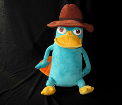 "DISNEY STORE PERRY SECRET AGENT PLATYPUS PLUSH BEAN BAG TOY 16"" - $14.85"