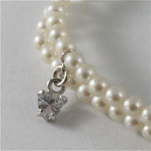 925 SILVER BRACELET WITH HEARTS AND GIRLS PENDANTS, FW WHITE PEARLS AND ZIRCONIA image 3
