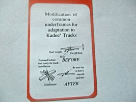 Kadee # 510 Andrews Metal Trucks With #148 Whisker Couplers 1 Pair HO Scale image 3