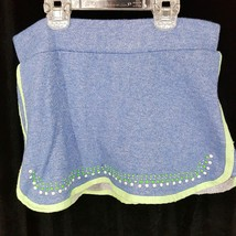 Juicy Couture SKORT skirt w shorts size M (10/12) blue glitter girls - $9.49
