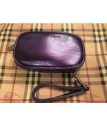 Bobbi Brown Faux Leather Makeup Bag Wristlet - Metallic Purple Color - NEW! - $14.99