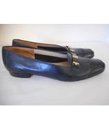 Salvatore Ferragamo Boutique Sz 7.5 4 A Blue Womens Loafer Shoes - $39.59