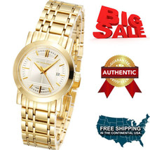 NEW Burberry Watch Women's Swiss Goldtone Stainless Steel Bracelet 28mm  BU1394 - $295.02
