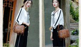 Sale, Vintage Full Grain Leather Shoulder Bag, Designer Handbag For Women image 4